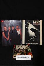 Vintage U2 Book Lot Rock Music Memorabilia Paperback