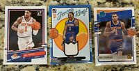 2020-21 NBA Donruss Obi Toppin LOT of 3 - Jersey Kings Patch, The Rookies, + RC
