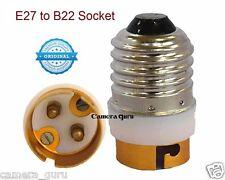 (Set of 2) - E27 to B22 LED Halogen CFL Light Base Bulb Lamp Adapter Converter