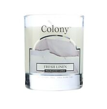 2 x Wax Lyrical Colony Fresh Linen Small Candle Glass