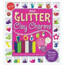 MAKE GLITTER CLAY CHARMS KIT-Polymer/Fimo-Animals/Food-Jewelry Craft Idea Book