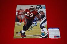 WARREN SAPP tampa bay buccaneers signed psa/dna 8x10 photo HOF