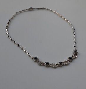 !Saphir-Diamant-Collier aus Weißgold - 585er - Wunderschön - toll gearbeitet!