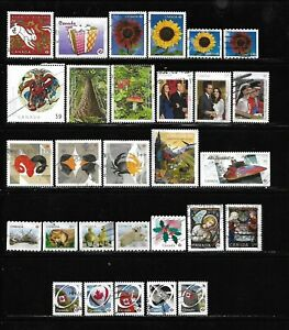 Canada year 2011 all different used stamps off paper #4