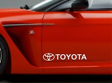 2x Door Sticker Fits Toyota Logo Side Vinyl Decals Premium Qaulity RT105