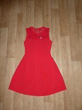 8160ea9d4afb1c H&M Kleid Cocktailkleid Ärmellos Plissiert Rot Spitze Gr.38 **NEU**