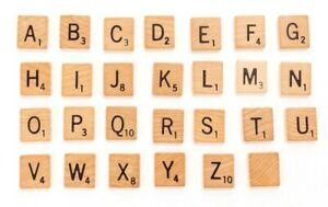 Scrabble Letter Tiles Genuine Game Replacement Pieces Crafts You Pick