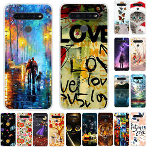For LG G8 G7 G6 G5 G4 ThinQ Ultra Slim Painted Soft Silicone TPU Back Case Cover