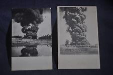 Two Burning Naptha Tank Lima Ohio Postcards