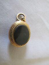Antique 15ct Gold Mourning Locket set Sardonyx and Bloodstone Valuation $2,750