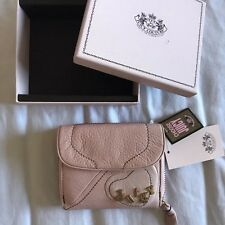 NWT Juicy Couture Small Leather Heart Wallet Pink
