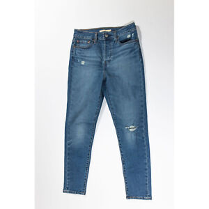Levi's Women's Wedgie Skinny Cotton Stretch Distressed Jeans Pants 28