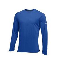 Nike Men's Dri Fit Hyper Elite Long Sleeve Basketball Shooting Shirt Blue Xs