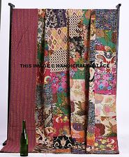 Queen Bedding Vitage Kantha Quilt Patchwork Quilt Indian Bed Cover Blanket Throw