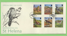 St Helena 1993 Birds definitives on two First Day Covers