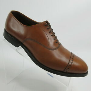 Allen Edmonds Fifth Avenue Walnut Cap Toe Brogue Dress Shoe Mens Size 8.5 D