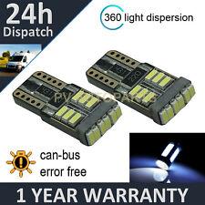 2X W5W T10 501 CANBUS ERROR FREE WHITE 18 SMD LED INTERIOR LIGHT BULBS IL103901