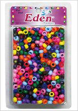 Pick Any 1 Color 200pc Dreadlock Pony Hair Beads Braiding 9X6mm Bracelets Craft