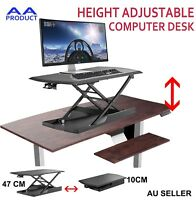 Height Adjustable Stand /Sit Desk Riser for Computer Desktop Laptop Office Study