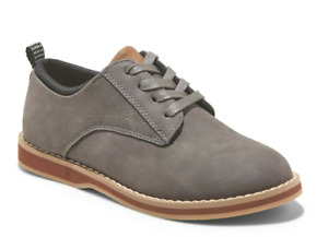 Cat & Jack Boys' Gray Faux Leather Griffen Loafers Casual Dress Shoes
