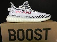 NEW DS Adidas Originals Yeezy YZY 350 Boost V2 Zebra CP9654 White Red