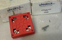 WHEELOCK 34T-12 FIRE ALARM HORN RED HEAVY DUTY 12VDC (LOT OF 2) NEW $69