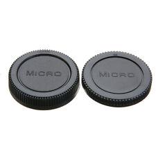 2Pcs Body Cover + Rear Lens Cap Protector Case For Olympus M4/3 DSLR Camera