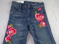Baby Gap Embroidered Roses Portobello Mini Skinny Distressed 1969 Jeans 5 NWT G5