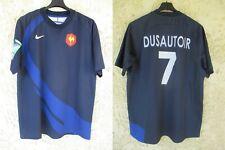 Maillot rugby QUINZE DE FRANCE WORLD CUP IRB 2007 DUSAUTOIR n°7 NIKE shirt L