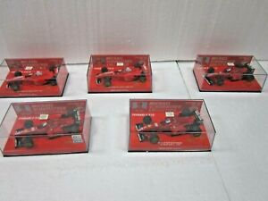 5 X MINICHAMPS~METALL~1:43~M. SCHUMACHER COLLECTION~EDITION 43~30+31+35NEU+OVP !
