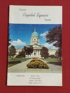 1980s Book: KANSAS CAPITOL SQUARE Topeka Vintage Photos & History Capitol area