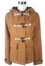 COTTON ON Duffle Jacket - Vintage Style Tan Camel Brown Zip Hood Toggle - XS/8