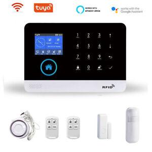 TUYA Wireless WiFi GSM SMS Home Office Security Burglar Alarm System for Alexa
