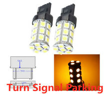 2X 3157 3156 4157 4057 LED Amber Yellow Turn Signal 3000K Corner Light bulb