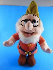 "Vintage Doc Dwarf 10"" Plus Hat Plush Stuffed Toy  Disney Mattel"