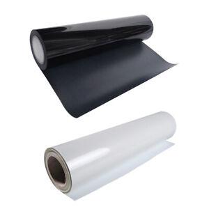 2 Rolls Matte Heat Transfer Vinyl HTV Film White, Black