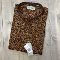Vintage Bill Blass 100% Cotton Long Sleeve PAISLEY Button Down Shirt Men's XL