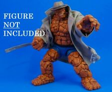 CUSTOM TRENCH COAT/HAT/CIGARS-MARVEL LEGENDS THE THING (NO FIGURE) FANTASTIC 4