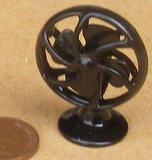 SCALA 1:12 metallo nero non funzionante VENTILATORE da tavolo Casa delle Bambole Accessorio Ufficio