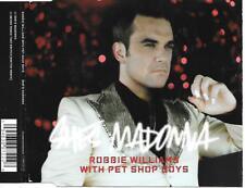 ROBBIE WILLIAMS & PET SHOP BOYS - She's Madonna CD SINGLE 2TR EU Release 2007