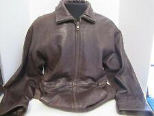 NWOT Tibor Brown Leather Parker Jacket Coat - Men's Small