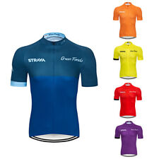 Mens Cycling Jersey Short Sleeve Top Bicycle Shirt with Rear Pockets Breathable