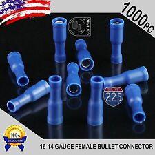 100 PK 14-16 18-22 GAUGE VINYL BULLET CONNECTORS 25 PCS EACH MALE FEMALE