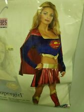 Super Girl Sexy Costume Halloween Adult Women Size Large 10-14