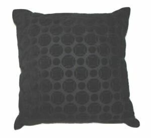 """Hotel Collection Marble Geo 20"""" Square Decorative Pillow Black"""