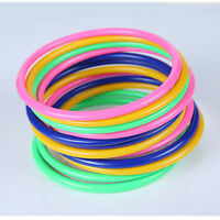 10 Pcs Colorful Hoopla Rings Toss Cast Circle Sets Educational Toys Puzzle Kids