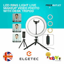 "10"" LED Ring Light with Stand for Youtube Tiktok Makeup Video Live Phone Selfie"