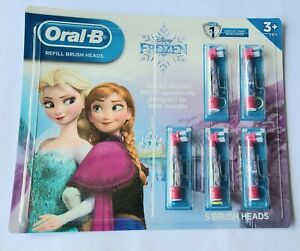 Disney Frozen Oral-B Kids Refill Brush Heads. 5 count NEW SEALED
