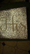 "Framed, Wall Art, ""HIS'' SILVER GLITTER FRAME DECOR brand new no tag"