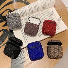 For Apple AirPods 1 2 Charging Case Bling Glitter Diamond Rhinestone Skin Cover